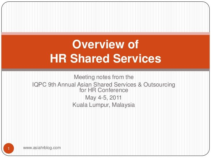 Overview of hr shared services shared services service