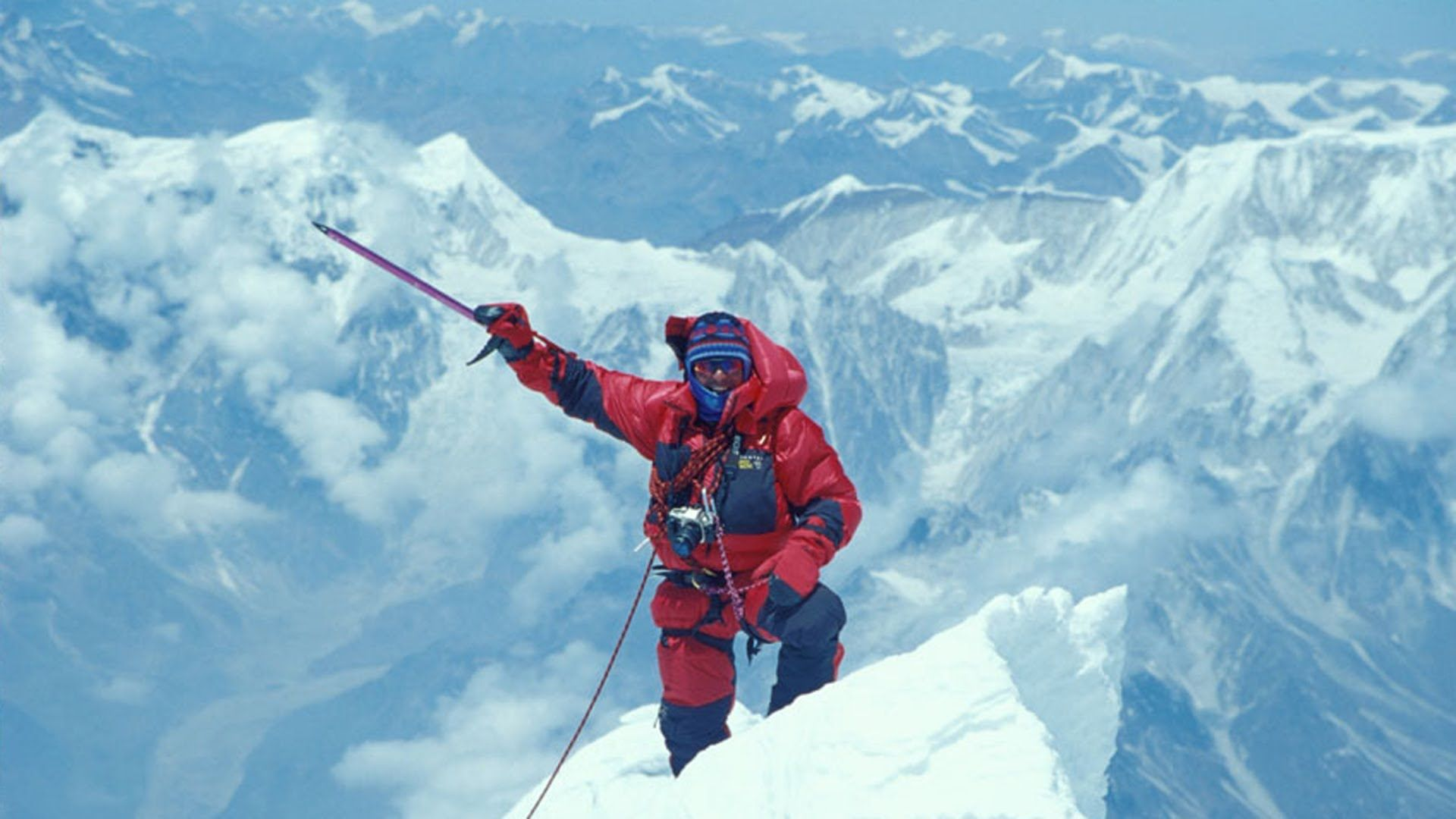 Ed viesturs describes his climbing experiences on